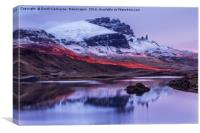 Chasing The Sunlight at Loch Fada, Canvas Print