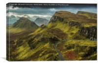 The Quiraing In November, Canvas Print