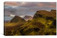 Pastel Pink Sky At The Quiraing, Canvas Print