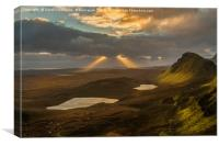 Sun Rays At The Quiraing, Canvas Print