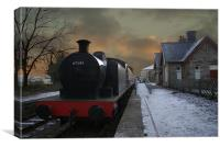 The Train Is In The Station, Canvas Print