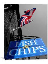 Fish and Chips, Canvas Print