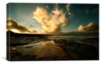 Heart of the Storm- Vintage Edition - Newtrain Bay, Canvas Print