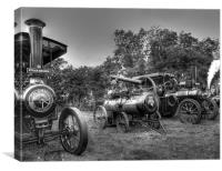 Steam Engines at Marsworth, Canvas Print