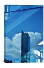 Beetham tower reflected., Canvas Print