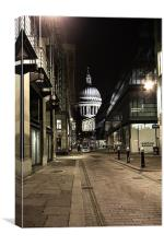 Peekaboo St Paul's, Canvas Print