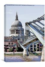 St. Paul's and The Millennium Bridge, Canvas Print
