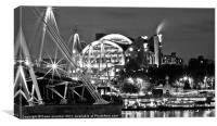Hungerford Bridge London,, Canvas Print