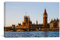 River View of Westminster, Canvas Print