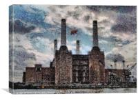 Pink Floyd's Pig, Battersea Power Station, Canvas Print