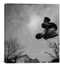 Parkour, Free Running, Canvas Print