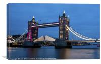 Tower Bridge at Night Opening, Canvas Print