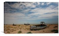 Wrecked Boats Dungeness, Canvas Print