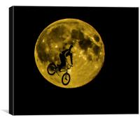 BMX Moon Rider, Canvas Print