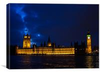 Houses of Parliment, Westminster, London UK, Canvas Print
