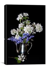 Bluebells and Apple Blossom, Canvas Print