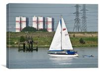 Sailing on the River Thames, Canvas Print