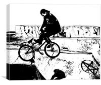 BMX Abstract 3, Canvas Print