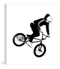 BMX Abstract 1, Canvas Print