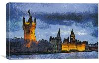 Houses of Parliament Van Gogh Style, Canvas Print