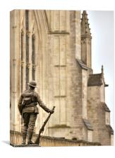 Soldier of the Cathedral, Canvas Print