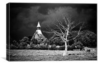 Church After The Storm Monochrome, Canvas Print