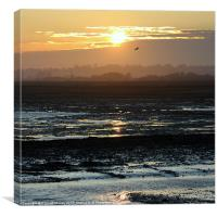 Rye Harbour Nature Reserve, Sunset, Canvas Print