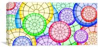 Stained Glass Circles, Canvas Print