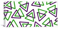 Frosted Triangles Purple & Green, Canvas Print