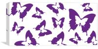 Butterfly Parade Purple, Canvas Print