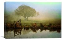Misty Morning Glory, Canvas Print