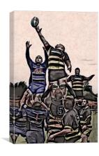 Rugby, Canvas Print