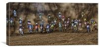 Motocross charge, Canvas Print