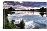 Knapps Loch Reflections, Canvas Print