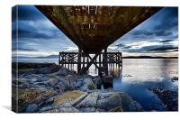 Under the jetty, Canvas Print
