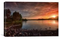 Knapps Loch Sunset, Canvas Print
