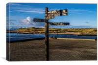Sign Post to nowhere, Canvas Print