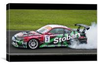Burning Rubber, Canvas Print