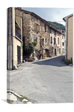 Village in gorges Verdon, Canvas Print