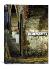 Folkestone Fish Market, Canvas Print