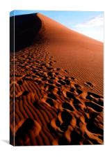 Footsteps in the Sand, Dune 45, Sossusvlei, Namibi, Canvas Print