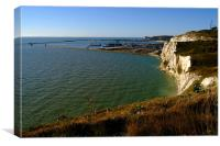 Dover Docks and the Famous White Cliffs, Canvas Print