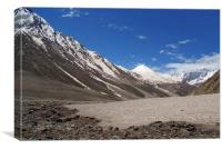 Snow in the Lahaul Valley, Canvas Print