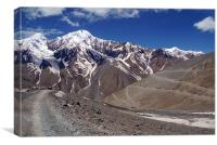 On the Road in Spiti Valley, Canvas Print