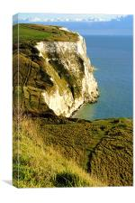 Chalky White Cliffs, Canvas Print