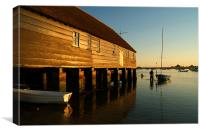 Wading Out Bosham, Canvas Print