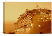 Independence Of The Seas, Canvas Print