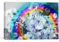 Flower Cd Abstract, Canvas Print