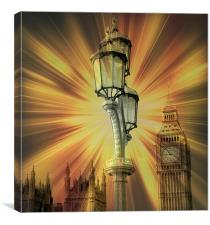 Abstract London, Canvas Print