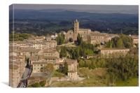 Aerial view of Siena, Canvas Print